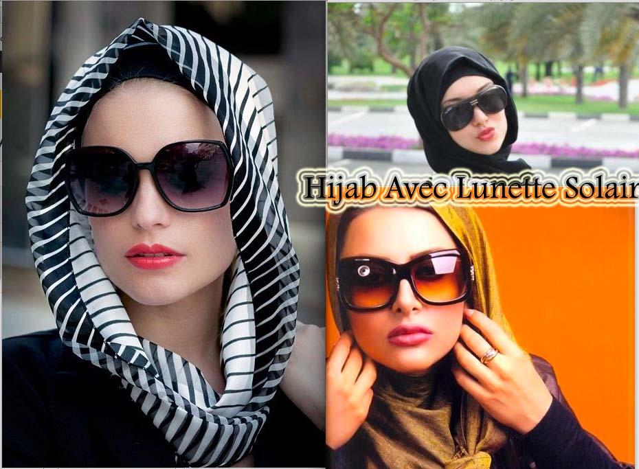 d couvrez comment mettre le hijab avec lunette solaire astuces hijab. Black Bedroom Furniture Sets. Home Design Ideas