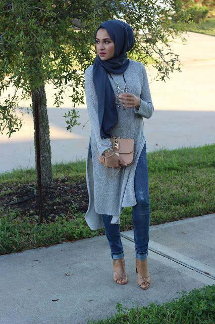 La Tendance Cette Saison Jeans Casual Style Hijab Pour