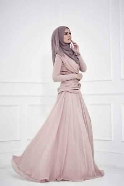 Jolie Robe De Soirée Pour Femme Voilée2
