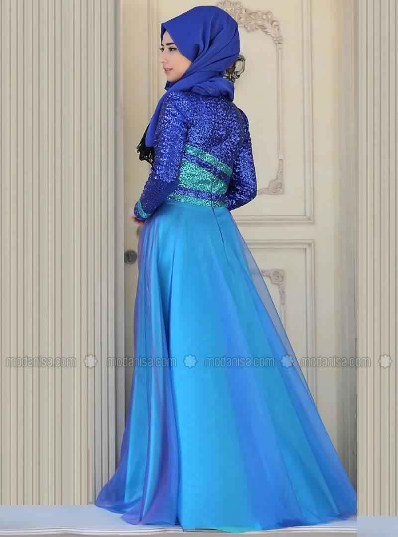 Robe de Soirée Femme Voilée 1