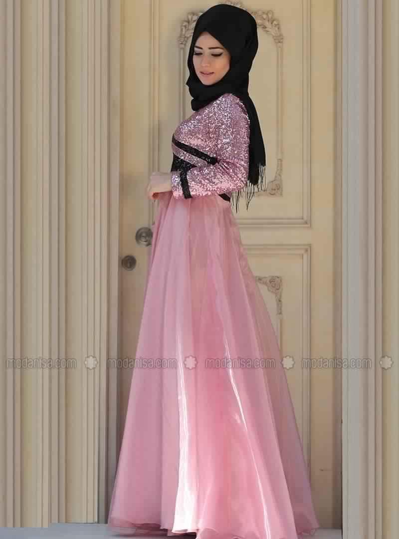 Robe de Soirée Femme Voilée 9