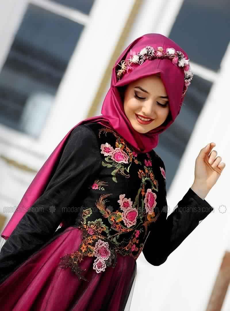 Robe de soirée pour femme voilée