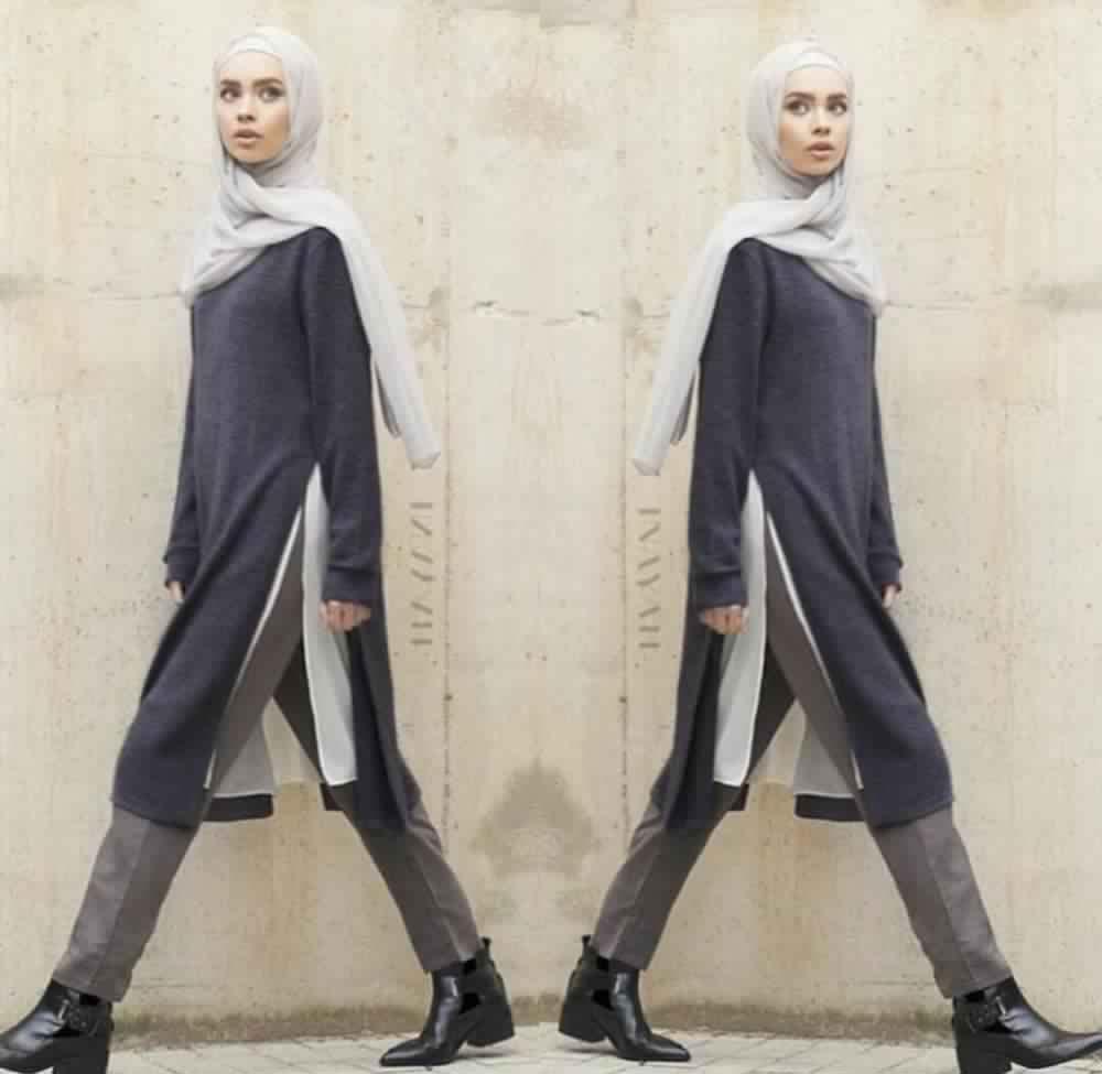 Tunique Longue Avec Un Jean1