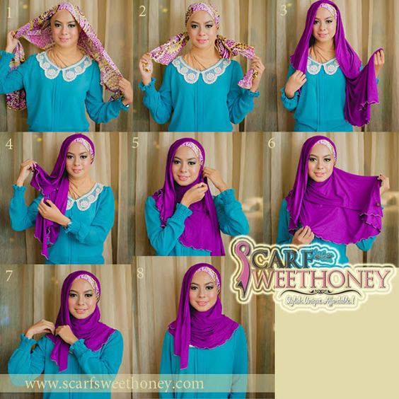 Tutoriels Hijab Simples Et Faciles 5