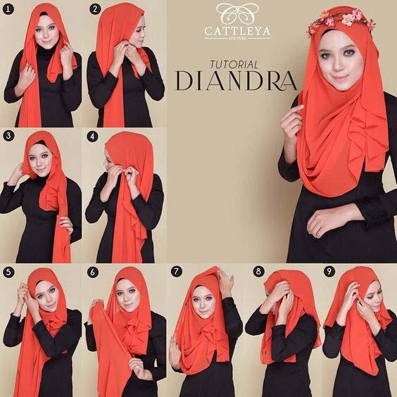 Tutoriels Hijab Simples Et Faciles 9
