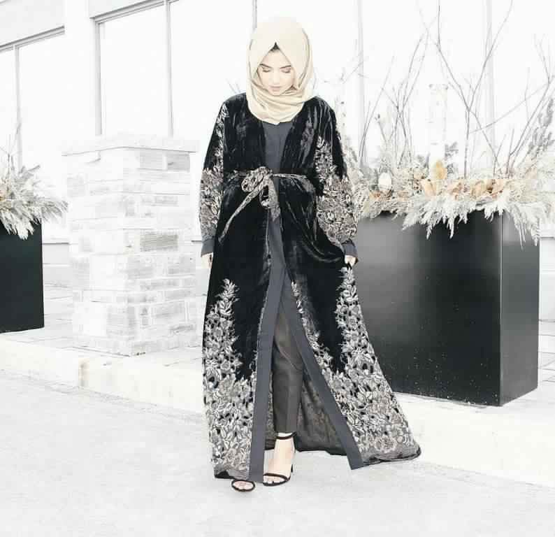 Abaya Soirée Noire2
