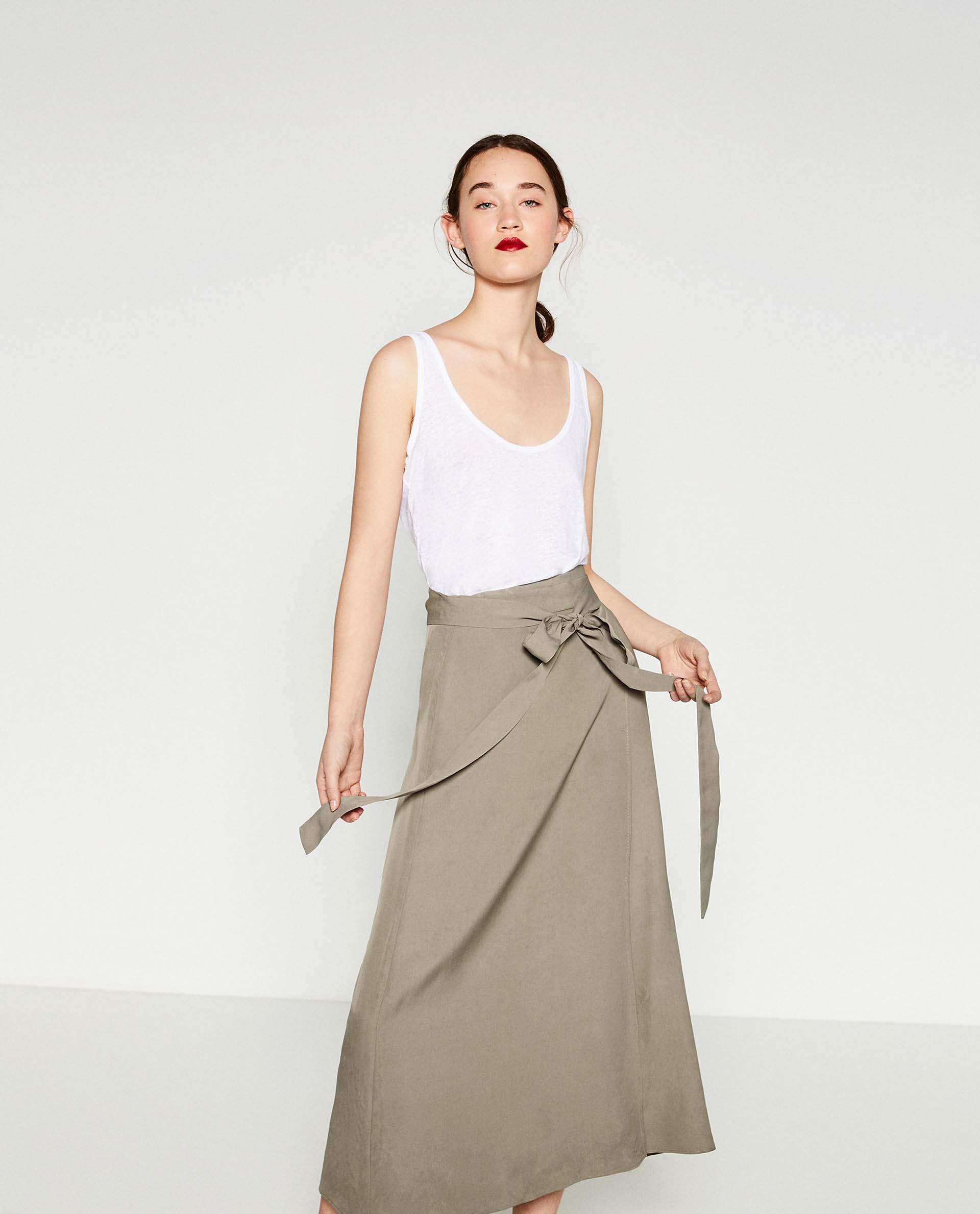 zara collection d'Été: jupes longues pour femme voilée À prix doux