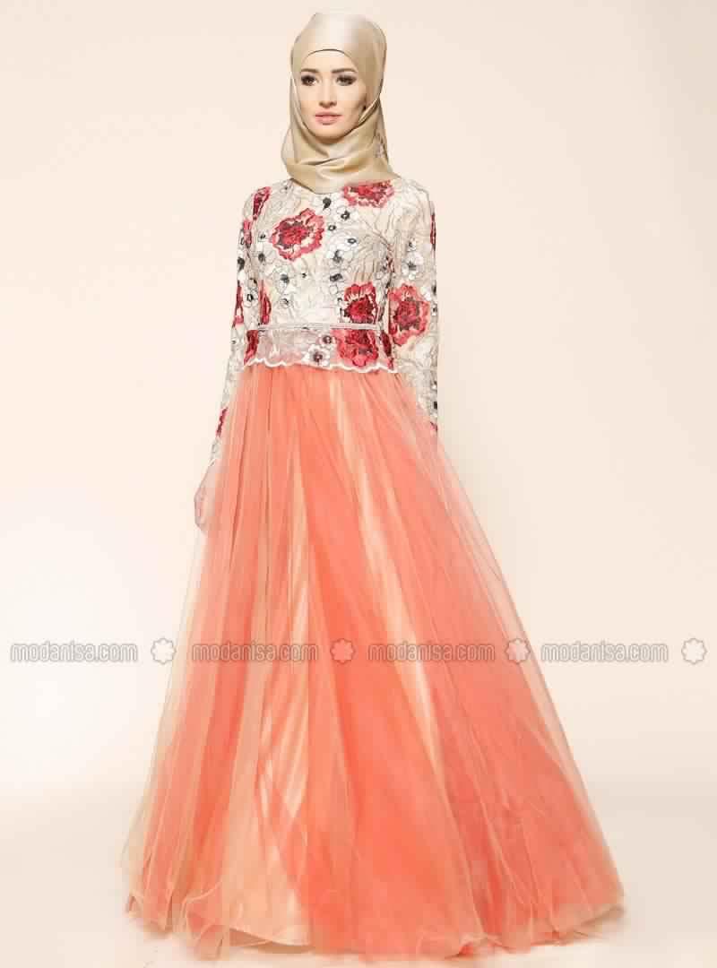 Robe De Soirée Mariage Pour Les femmes Voilée 3