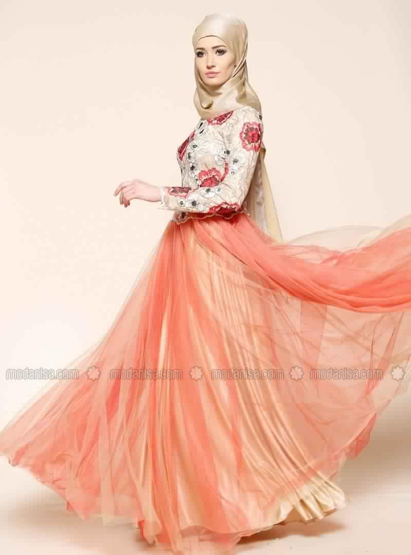 Robe De Soirée Mariage Pour Les femmes Voilée 5