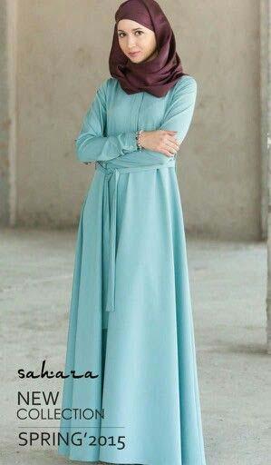Robe manche longue pour femme voilee