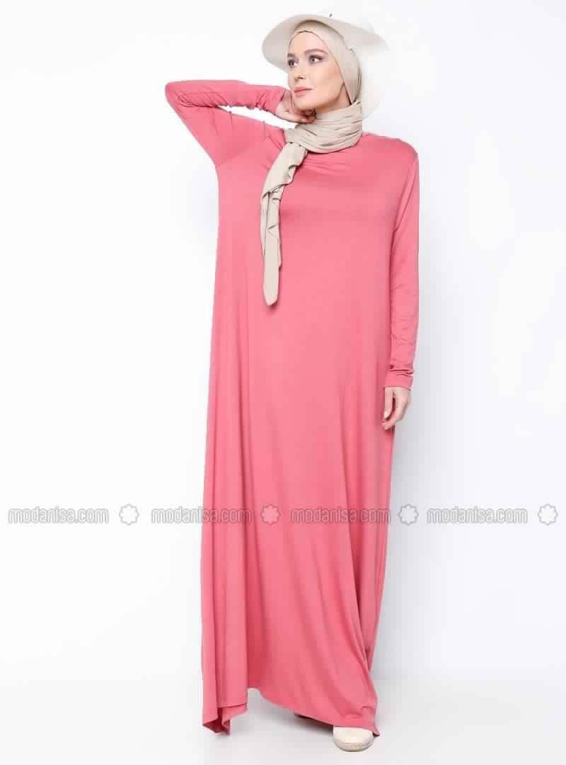 Robes Rose En Coton 1