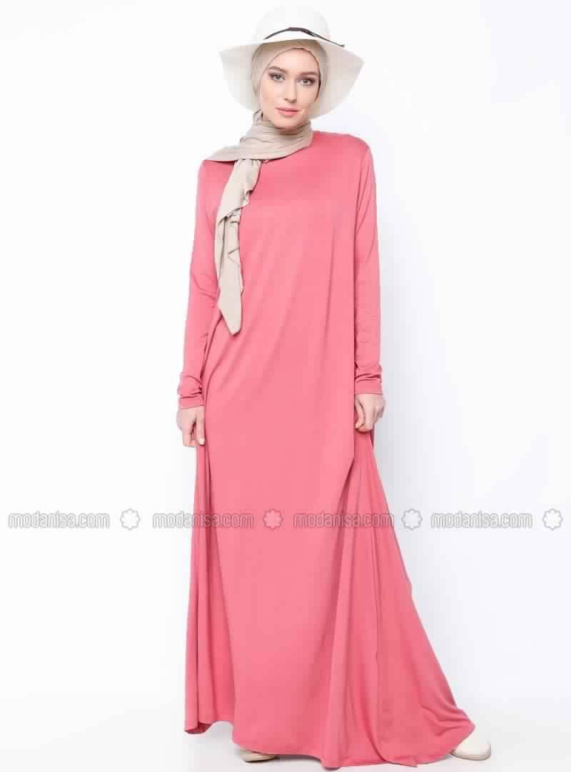 Robes Rose En Coton 3