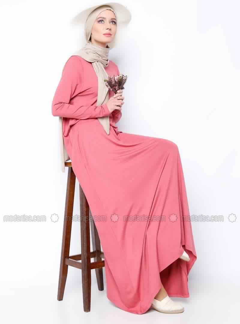Robes Rose En Coton 5