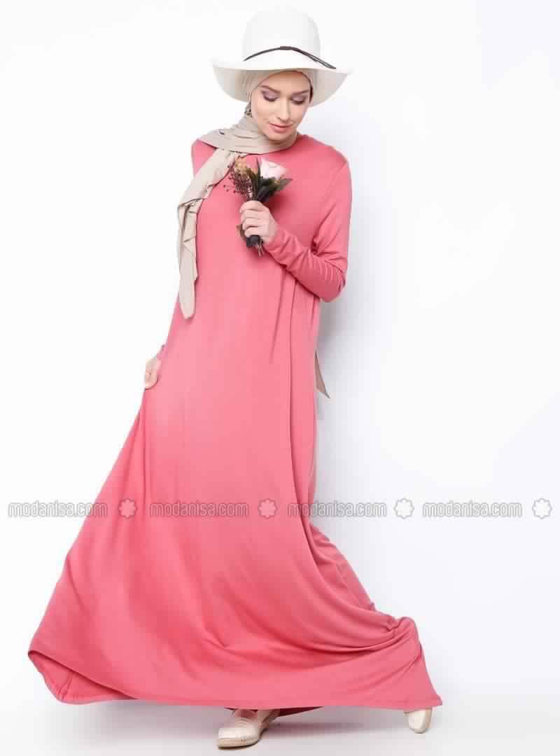 Robes Rose En Coton 6