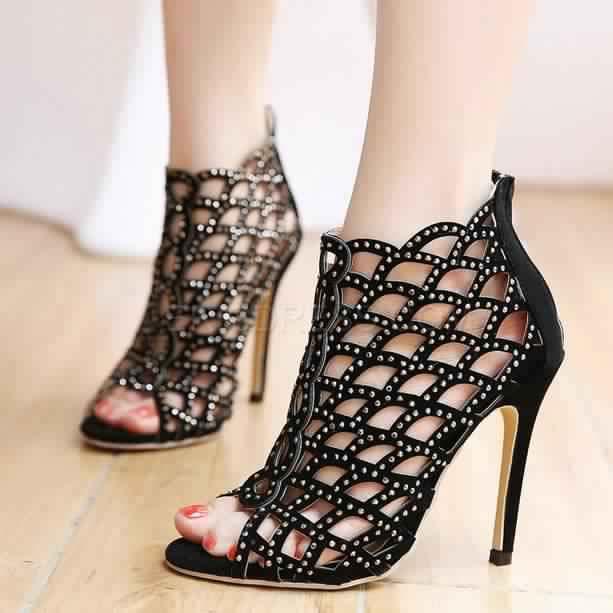 Chaussures de soirée noires Fashion femme cqS1X3