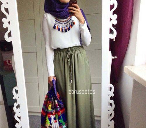 Comment Mettre Le Collier de Perles Avec Le Hijab19