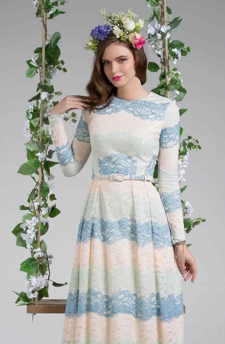 Découvrez Cette Robe Longue pour Femme Voilée2