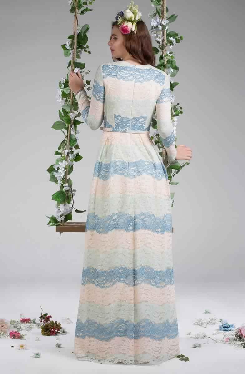 Découvrez Cette Robe Longue pour Femme Voilée3
