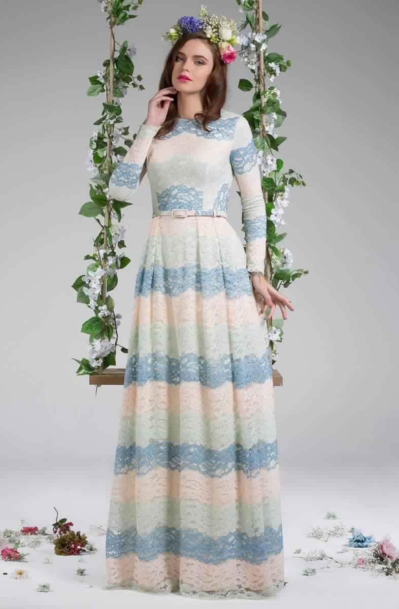 Découvrez Cette Robe Longue pour Femme Voilée5