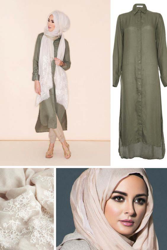 Comment Porter La Robe Chemise Avec le HIjab - 26 Styles Inspirants et Tendance u00e9tu00e9 - astuces hijab