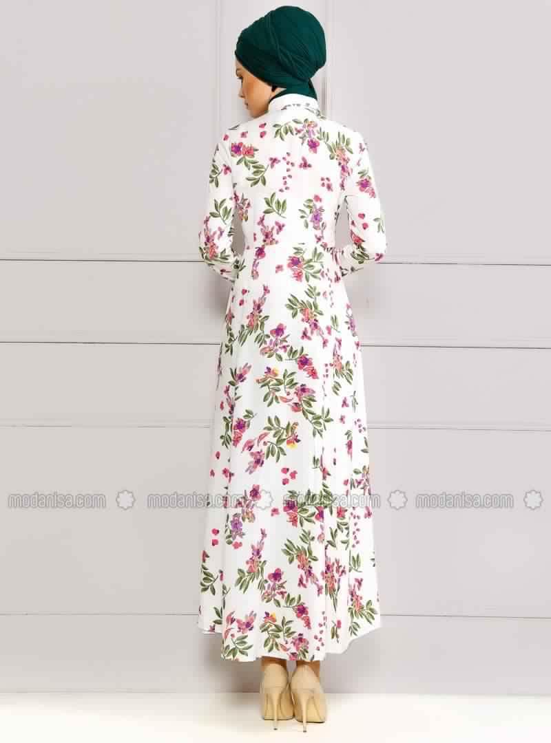 Robe Femme Voilée À Fleurs
