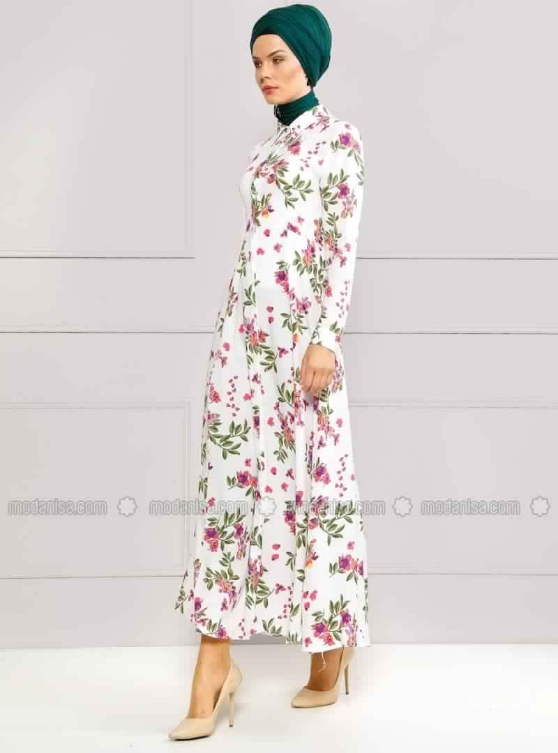 Robe Femme Voilée À Fleurs 3