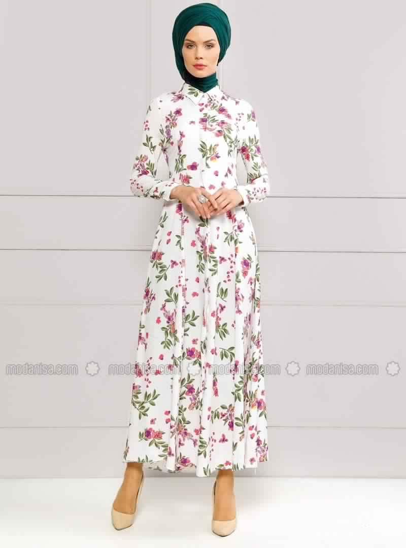 Robe Femme Voilée À Fleurs 4