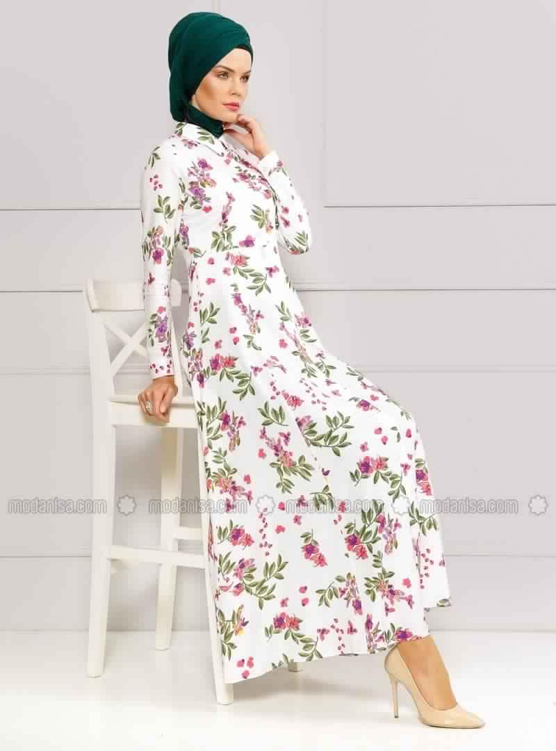 Robe Femme Voilée À Fleurs 5