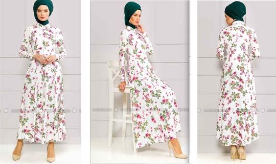 Robe Femme Voilée À Fleurs 6