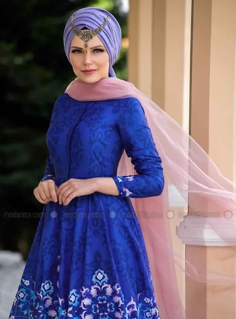 Robe Femme Voilée Sublime Pour La Fête De Ramadan