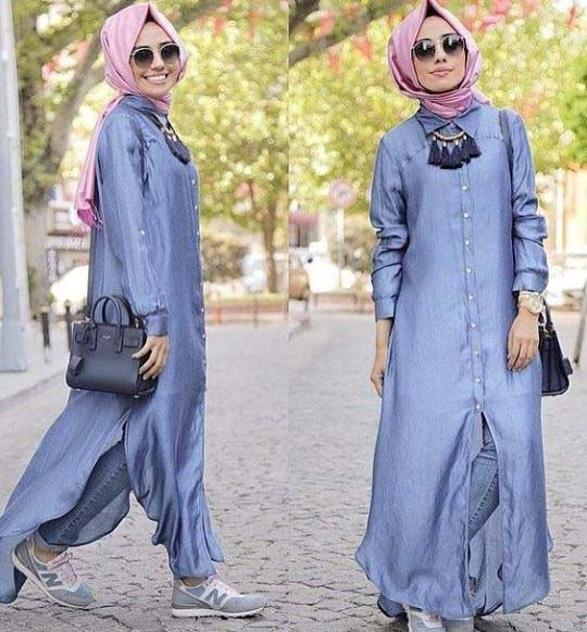 Hijab Style Fashion Tumblr Blue