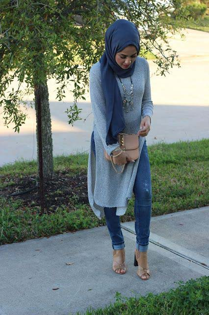 Hijab Style Comment Porter La Robe Tunique Avec Style