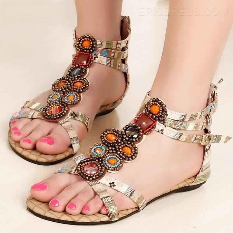 Sandales Plates18