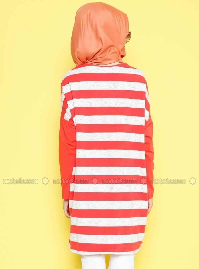 Tee shirt-Tunique Long Ample Pour Femme Voilée Pas Cher1