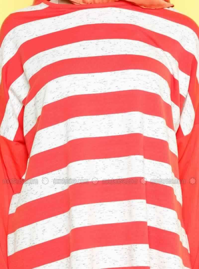 Tee shirt-Tunique Long Ample Pour Femme Voilée Pas Cher2