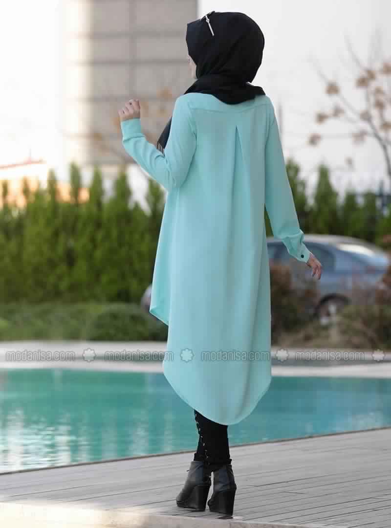 Tunique Longue En Bleu Ciel