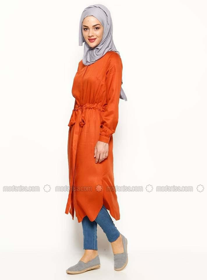 Tunique Longue En Orange Pour Hijab Chic Et À Prix Doux! 5