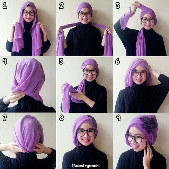 Tutoriels de Hijab Avec Lunettes