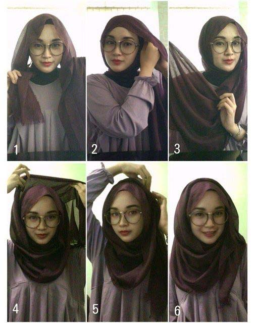 Tutoriels de Hijab Avec Lunettes 1