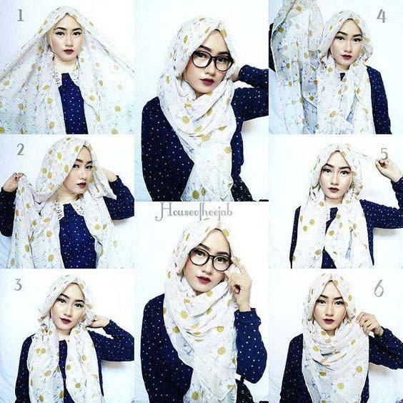 Tutoriels de Hijab Avec Lunettes 10