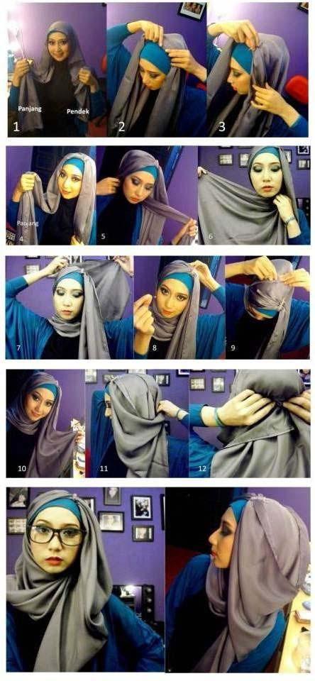 Tutoriels de Hijab Avec Lunettes 11