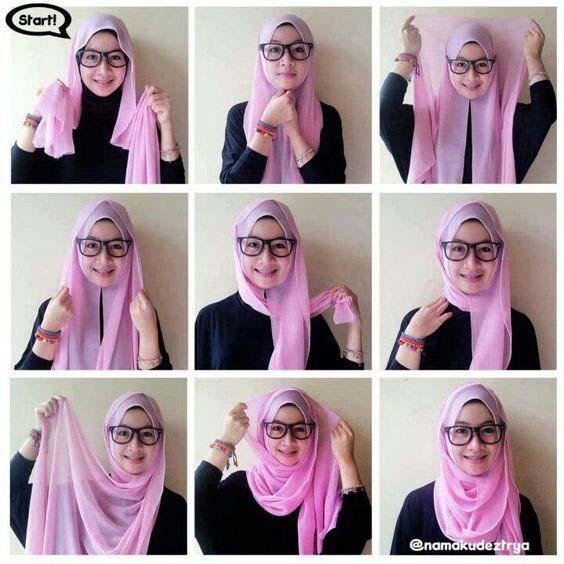 Tutoriels de Hijab Avec Lunettes 12