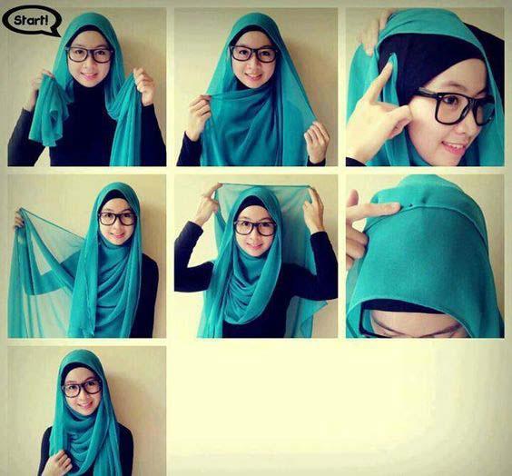 Tutoriels de Hijab Avec Lunettes 4
