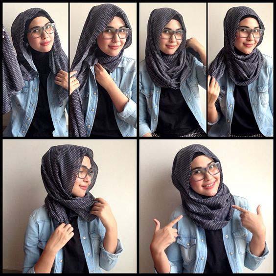 Tutoriels de Hijab Avec Lunettes 6