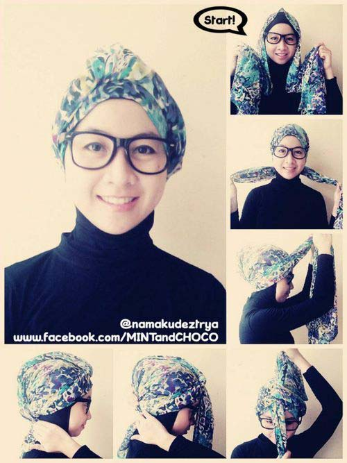 Tutoriels de Hijab Avec Lunettes 8