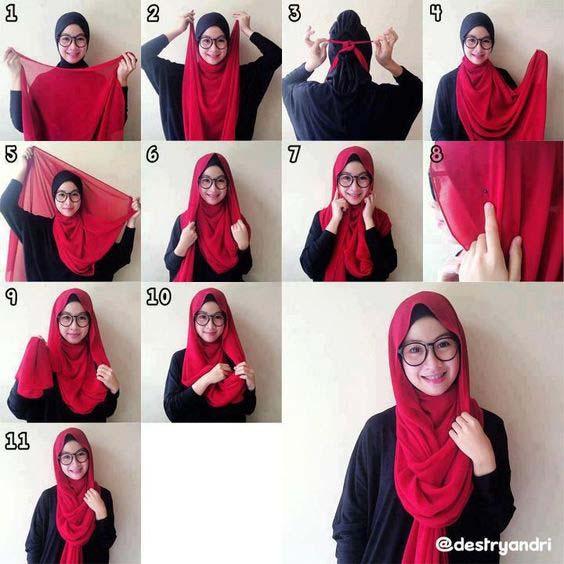 Tutoriels de Hijab Avec Lunettes 9