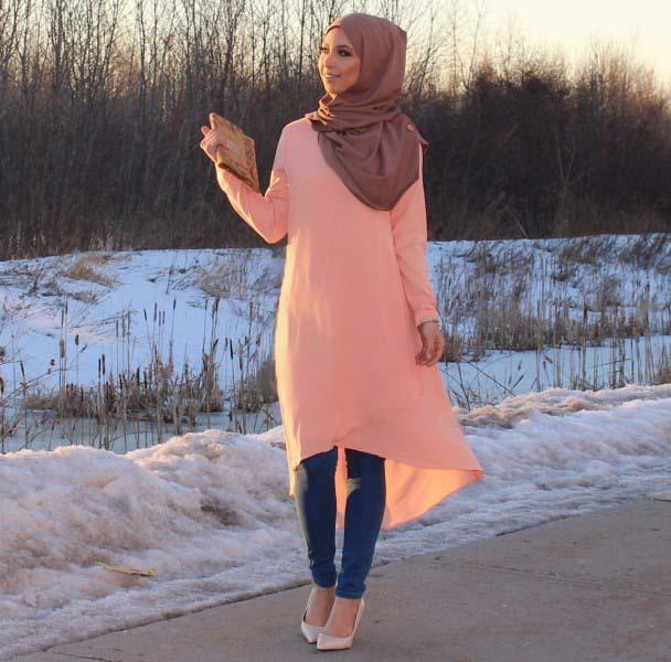 30 Façons de porter une Tunique longue avec des leggings11