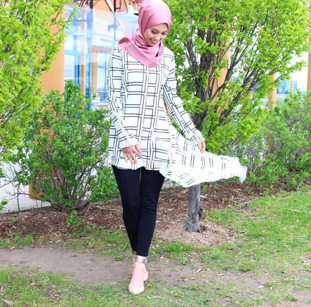 30 Façons de porter une Tunique longue avec des leggings12