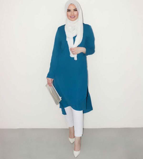 30 Façons de porter une Tunique longue avec des leggings7