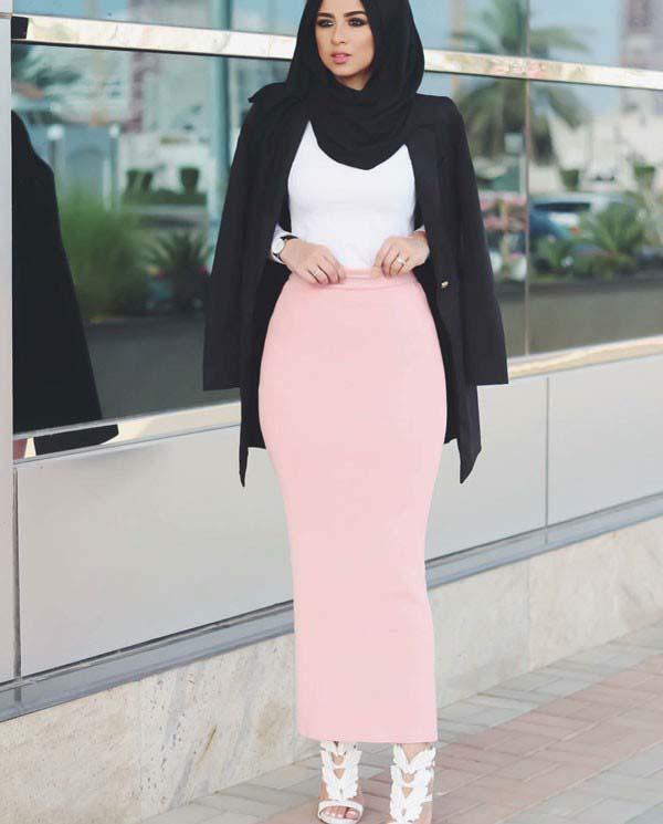 Conseils Hijab Mode  32 Façons modernes et fashion pour apprendre comment  porter la Jupe longue avec le Hijab